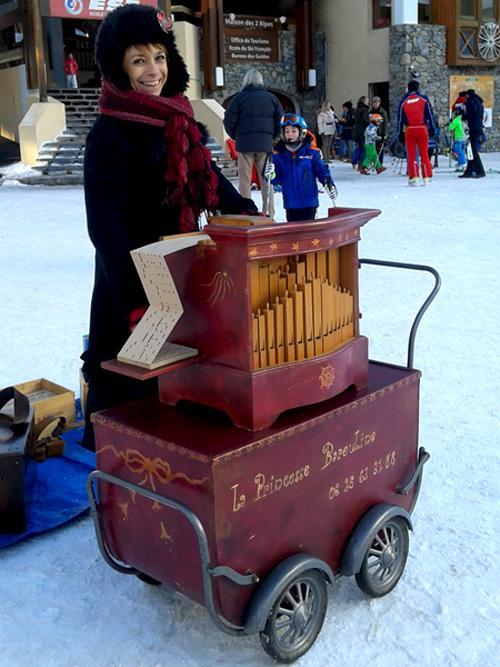 l'orgue de Barbarie en station de ski