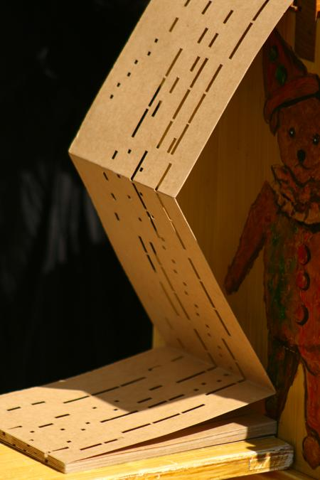 carton perforé pour orgue de Barbarie
