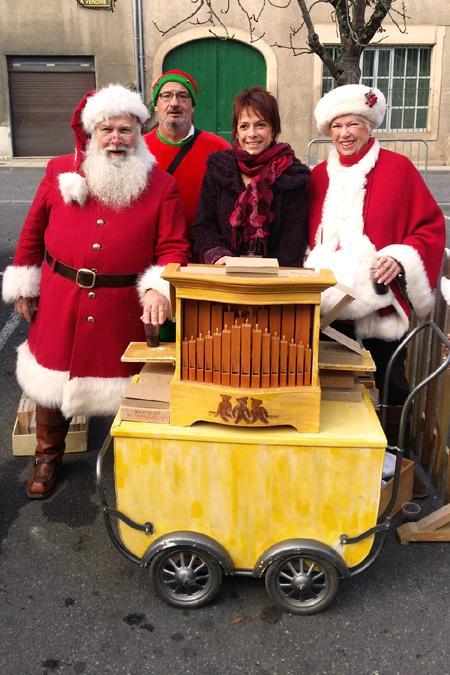 rencontre sur un marché de Noël