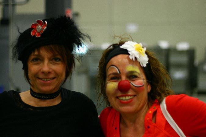 rencontre entre un clown et la Princesse Barouline