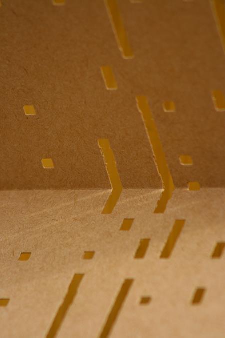 un carton perforé correspond à un morceau