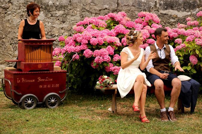 animation de vin d'honneur de mariage à l'orgue de Barbarie