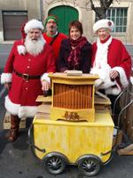 avec le Père Noël, sur le marché de Noël de Masseube